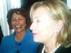 "There's something about Hekia Parata. Her smile. Vote: Hekia Parata for Mana.  Caption: ""Enjoying time with Secretary Clinton – who had just wished me well with my election campaign!"" Cute.  Well that's just spiffingly Stellar, ladies, isn't it? What an image. Go girls!!!"