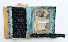 let the beauty we love be what we do: Stitched journal page by Ruth Rae Fabric Painting, Fabric Art, Fabric Books, Journal Pages, Journal 3, Journal Ideas, Fabric Journals, Art Journals, Fabric Postcards
