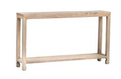 Reclaimed wood slim console table with shelf LE006