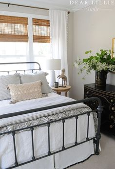 A Light and Bright Townhome – Guest Bedroom - Dear Lillie Studio A Ligh. A Light and Bright Townho Guest Bedroom Decor, Guest Bedrooms, Home Bedroom, Guest Room, Bedroom Ideas, Master Bedroom, Dear Lillie, Shabby Chic, Bedroom Styles