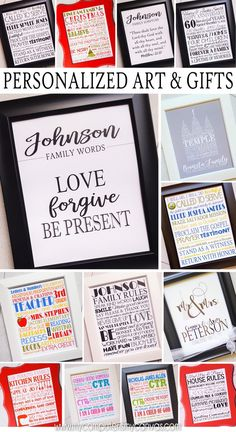 PRINTABLE AND PERSONALIZED Personalized Subway Art