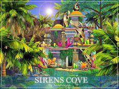 Mermaid Cove, Mermaid Art, Mermaid Paintings, Tattoo Mermaid, Mermaid Tails, Lotes The Sims 4, Sims Cc, Sims 4 Anime, Sims Building