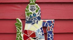 Stained glass mosaicTeapot wall hanging by PiecesofhomeMosaics, $42.00