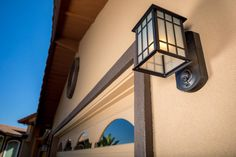 The Kuna light fixture includes a camera so you can see who's at the door. I plan to put a Ring doorbell at the front door, but I'd love to put one of these at the back door.