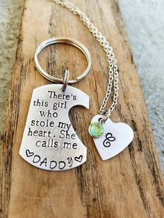 Hey, I found this really awesome Etsy listing at https://www.etsy.com/listing/268415844/personalized-hand-stamped-dad-keychain