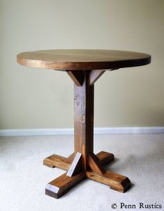 Round Pedestal Bistro Table 2 Chair Set Rustic Solid Wood Dining Room Kitchen Trestle Beam Small Space Table and Two Chair Set Wood Table, Dining Table, Dining Room, Gold Desk Chair, Wood Patio Furniture, Furniture Design, Furniture Ideas, Furniture Layout, Round Pub Table
