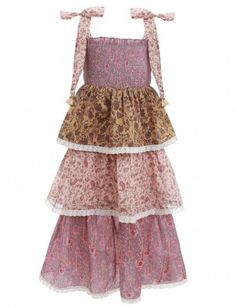 Juniper Shirred Tiered Dress, from our Resort Swim 19 Collection, in Spliced prints developed by Zimmermann. Cotton dress with shirred top, adjustable shoulder ties and ruffled panels throughout the skirt hem. Australian Fashion Designers, Designer Kids Clothes, Weird Fashion, Tiered Dress, Cotton Dresses, My Girl, Style Me, Ready To Wear, Girl Outfits