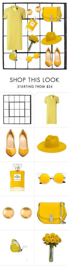"""""""Sunny look"""" by adomrachova ❤ liked on Polyvore featuring Dorothy Perkins, Christian Louboutin, REINHARD PLANK, Chanel and Marc Jacobs"""