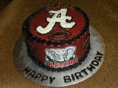 Alabama Football Birthday by www.dkscakes.com