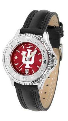 Indiana University Hoosiers Ladies Leather Wristwatch
