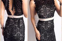 Rochie de seara neagra din dantela cu funda la spate Corset, Two Piece Skirt Set, Formal Dresses, Skirts, Fashion, Tulle, Dresses For Formal, Moda, Skirt