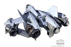 concept ships: Halo: Reach concept ships by Isaac Hannaford