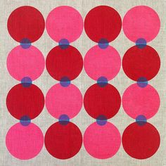 { week seven } of the #52weeksofprintmaking challenge 2015 by Yardage Design :: pattern play with rubber circles #blockprinting