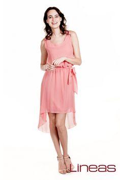 Vestido, Modelo 18348. Precio $270 MXN #Lineas #outfit #moda #tendencias #2014 #ropa #prendas #estilo #primavera #vestido