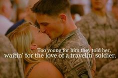 Dixie Chicks-Travelin Soldier ♥ love this song :'] Related posts:Hairstyle Military Couples, Military Quotes, Military Love, Military Girlfriend Quotes, Army Wife Quotes, Usmc Quotes, Bible Quotes, Marines Girlfriend, Navy Girlfriend