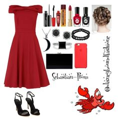"""Sebastian-Prom"" by disneybound-fashion ❤ liked on Polyvore featuring Sebastian Professional, Phase Eight, MAC Cosmetics, Rimmel, Burt's Bees, Dolce&Gabbana, Sally Hansen, Carolina Glamour Collection, Mark Broumand and 1928"