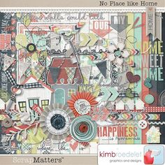 No Place Like Home kit by KimB, great for all kinds of pages!