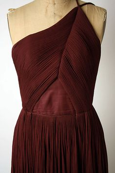 Evening dress Madame Grès (Alix Barton)  (French, Paris 1903–1993 Var region)   Date: late 1960s–mid-1980s Culture: French Medium: silk. Detail