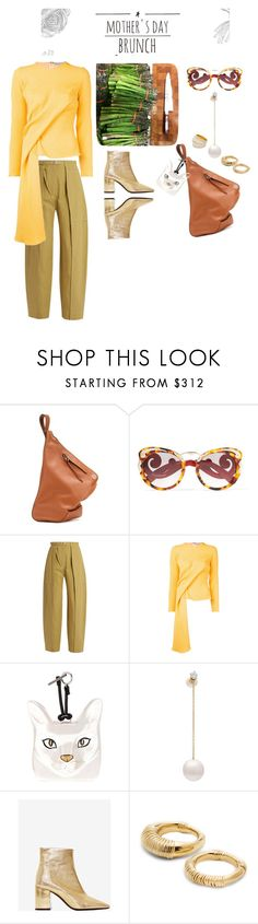 """Mother*s day/Brunch"" by statuslusso ❤ liked on Polyvore featuring Loewe, Prada, Lemaire, Edeline Lee, Delfina Delettrez, Aurélie Bidermann, polyvoreeditorial and brunchgoals"