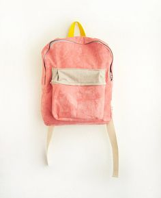 fuckyeahnicebags: Coral Dyed Cotton Canvas Backpack