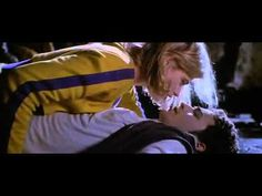 """Kristy Swanson as Buffy and Luke Perry as Pike in """"Buffy The Vampire Slayer."""""""
