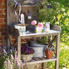 lovely potting bench.