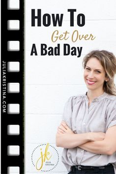 Bad day? Yeah, we all have them. But even when you have a bad day, it doesn't mean it has to end bad. It's a lot easier to get over a bad day if we know what we need to do to end it well. In this video I'll teach you a really simple way to turn a bad day into a good one with a mood and mindset changing exercise you can use anytime, and any place.  Click to watch the video!