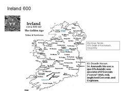 "Ireland 600, . Amruadh: his son; a quo O'h-Amridh; was ancestor of O'Corcrain (""corcra"": Irish, red), anglicised Corcoran,"