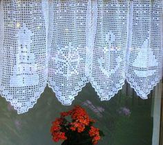 Gardine Geometrisch 1 (Vorhang), Filet häkeln, Anleitung ...