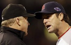 Game 2 of the NLCS -Matheny argues a call with the ump 10-15-12
