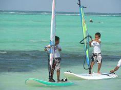 Surfing Bonaire for the small ones