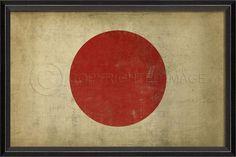 """Japanese Flag Framed Print 17"""""""" x 25"""""""""""