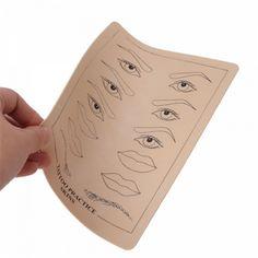 トップ品質アートメイク眉毛唇タトゥー練習スキントレーニングスキンセット用初心者