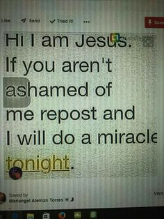 I just reposted because I need a miracle thanks Jesus for always being with me!!