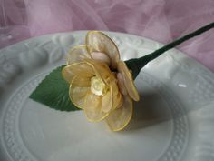 Champayne Flower Wedding Favour Dragees by Flowerfavours on Etsy, $7.00