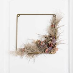 Square Pampas and Eucalyptus Harvest Wreath from Kirkland's Wreaths For Front Door, Door Wreaths, Square Wreath, Harvest Decorations, Leaf Flowers, Fall Wreaths, Potpourri, Autumn Leaves, Earthy
