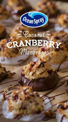 Rule your next cookie swap with these totally unique and irresistibly yummy holiday macaroons featuring your new top-secret ingredient – Craisins® Dried Cranberries. Kokos Desserts, Coconut Desserts, Coconut Macaroons, Köstliche Desserts, Holiday Baking, Christmas Desserts, Christmas Baking, Delicious Desserts, Dessert Recipes