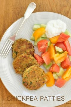Chickpea Fritters, Chickpea Patties, Vegan Patties, Chickpea Cakes, Chickpea Salad, Vegetarian Recipes, Cooking Recipes, Healthy Recipes, Chickpea Recipes Easy