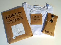 T-Shirt Branding - Yoobee School Of Design's Honest to Goodness t-shirt branding is rustic and eco-friendly. This brand identity project is reflective of the co...