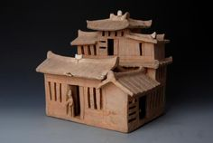 Han pottery model of a house
