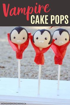 Getting ready for your next Halloween party? If you've never seen such cute and adorable Vampire cake pops with a cape, check out this tutorial to learn how to make this surprisingly easy Halloween-themed dessert! Halloween Cake Pops, Easy Halloween, Halloween Party, Halloween Themes, Cake Pop Tutorial, Cake Pop Stands, Cake Pops How To Make, Fruit Roll Ups, Pop Stick