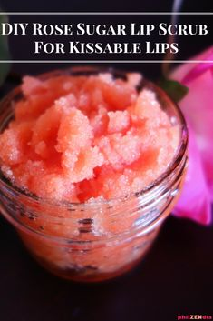 DIY sugar scrub recipe for lips: make this DIY homemade sugar lip scrub with easy to find ingredients to get the kissable lips you have always wanted.