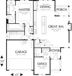 Home Construction-Ready Cottage House Plan with Crawl Space Foundation Printed Sets), Crawl Space Foundation, Foundation 5, The Plan, How To Plan, Architectural House Plans, Open Living Area, Small Living, Small House Plans, Rectangle House Plans
