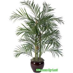 Artificial Palm Trees - silk palm trees, tropical plants, decorations, outdoor & indoor palm trees, Deluxe Areca Palm, Artificial Coconut Palmm