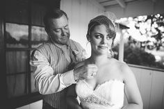 A sweet moment between the bride and her father. Photo by Adam Beach Photography.