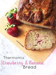 Thermomix Banana & Strawberry bread