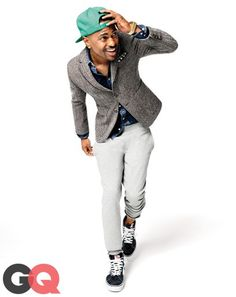 6. Get Your Sweatpants Up Off the Couch Before you get all sartorially indignant and write a letter of complaint to the Style Guy (try him; he's at styleguy @gq.com), answer this question: Does Big Sean look cool here? We know that wearing sweatpants with a blazer is unorthodox. But it works for him. And it can work for you this fall, too (as long as the sweats are tapered with elastic cuffs). Sweatpants, $98 by Saturdays NYC. Suit jacket by ASOS. Shirt by Sandro. Pocket square by The Tie…