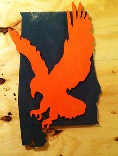 Auburn Sign War Eagle State of Alabama Sign
