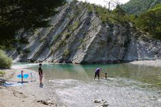 By the river at the Camping Indigo Gorges du Verdon