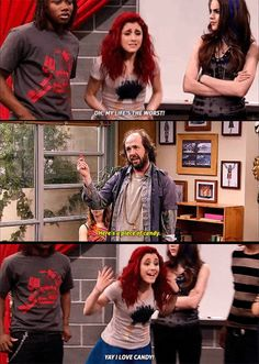 Victorious Nickelodeon, Icarly And Victorious, Nickelodeon Shows, Nickelodeon Cartoons, Victorious Quotes, Cat Valentine Victorious, Funny Test Answers, Jade West, Comedy Memes
